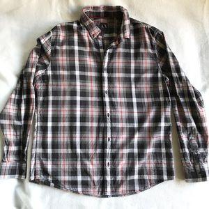 Armani Exchange Plaid Button Up Shirt Medium